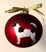 Canaan Dog Hand Painted Christmas Ornament