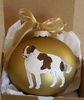 Saint Bernard Hand Painted Christmas Ornament