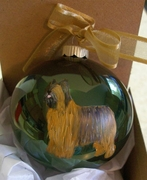 Briard Hand Painted Christmas Ornament