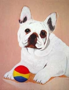 French Bulldog Original Artwork Greeting cards - Set of Five