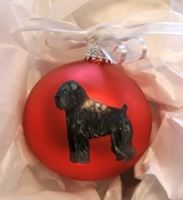 Black Russian Terrier Hand Painted Christmas Ornament