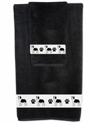 Boston Terrier Bath Towels