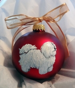 Coton de Tulear Hand Painted Christmas Ornament