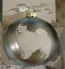 Samoyed Hand Painted Christmas Ornament