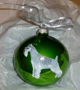Standard Schnauzer Hand Painted Christmas Ornament