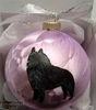 Schipperke Hand Painted Christmas Ornament