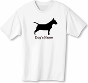 Bull Terrier T-Shirt Personalized with Dog's Name