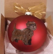 Cairn Terrier Hand Painted Christmas Ornament