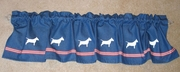 Bull Terrier Window Valance