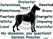 German Pinscher Obsession Tshirt