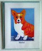 Corgi Original Artwork Greeting cards - Set of Five