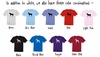 Long Sleeve T-Shirt Color Chart