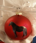 Dutch Warmblood Hand Painted Christmas Ornament