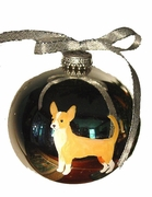 Chihuahua Hand Painted Christmas Ornament