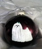 Maltese Hand Painted Christmas Ornament