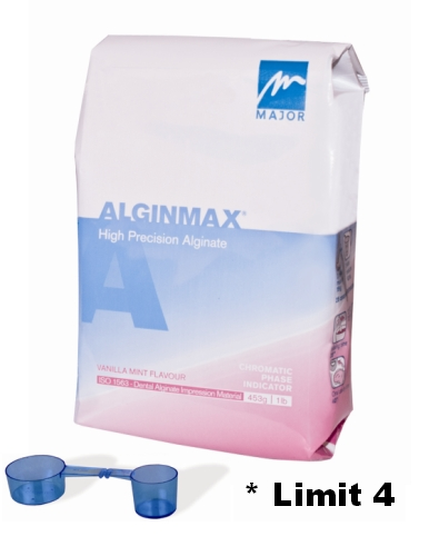 Alginmax, THE ONLY CHROMATIC-PHASE HYDROCOLLOID ALGINATE, FOR ORTHODONTICS, CROWN / BRIDGE AND DENTURES