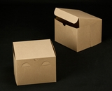 "2390 - 8"" x 8"" x 6"" Brown/Brown without Window, Lock & Tab Box With Lid"