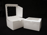 "950 - 9"" x 9"" x 5"" White/White with Window, Lock & Tab Box With Lid"