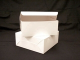 "554 -  12"" x 12"" x 5"" White/White without Window, Lock & Tab Box With Lid"