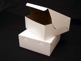 "240 - 12"" x 12"" x 5""  White/Brown without Window, Lock & Tab Box With Lid, 50 COUNT. A23"