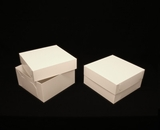 "1718x2639 - 12"" x 12"" x 6"" White/White Lock & Tab Box Set, without Window, 50 COUNT"
