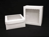 "1719x1720 - 14"" x 14"" x 6"" White/White Lock & Tab Box Set, with Window 50 COUNT"