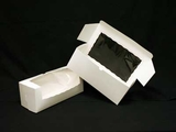 "1477 - 16"" x 6"" x 6"" White/White with Window, One Piece Lock & Tab Box With Lid"