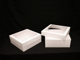 "1797x1796 - 16"" x 16"" x 6"" White/White Lock & Tab Box Set,  with Window 50 COUNT"