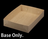 "2104 - 19"" x 14"" x 4"" Brown/Brown Lock & Tab Box Base Only Without Lid"
