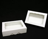 "1741 - 10"" x 7"" x 2 1/2"" White/White with Window, Timesaver Box With Lid. A15"