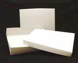 "294x397 - 19"" x 14"" x 4"" White/White Lock & Tab Box Set, without Window"
