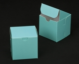 "2881 - 4"" x 4"" x 4"" Diamond Blue/White without Window, Lock & Tab Box With Lid. B09"