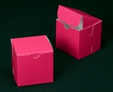 "2909 - 4"" x 4"" x 4"" Pink/White without Window, Lock & Tab Box With Lid. B09"