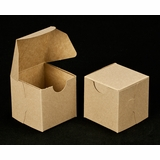 "2287 - 2 1/2"" x 2 1/2"" x 2 1/2"" Brown/Brown without Window, Lock & Tab Box With Lid"