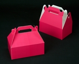 "2272 - 8 1/2"" x 5 1/2 "" x 3 1/2"" Pink/White Gable Top Auto Bottom Box. A16"
