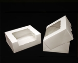 "930 - 9"" x 7"" x 3 1/2"" White/White with Window, Timesaver Box With Lid. A15"
