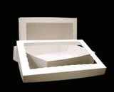 "294x293 - 19"" x 14"" x 4"" White/White Lock & Tab Box Set, with Window, 50 COUNT"