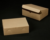 "2377 - 12"" x 9"" x 4"" Brown/Brown without Window, Lock & Tab Box With Lid. A28"