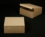 "2417 - 12"" x 12"" x 5"" Brown/Brown without Window, Lock & Tab Box With Lid"