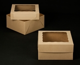 "2383x2398 - 12"" x 12"" x 6"" Brown/Brown Box Set, with Window"