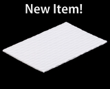 "3424 - 7"" x 4 1/2"" Candy Pad, White with White Core, 3-Ply Glassine Candy Box Liner"