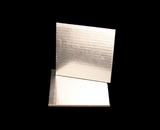 2728 - 6 Inch Cake Board, Silver Foil Single Wall Corrugated with Feather Cut Edges