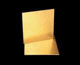 2735 - 9 Inch Cake Board, Gold Foil Single Wall Corrugated with Feather Cut Edges
