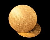 208 - 10 inch Cake Round, Gold Foil Single Wall Corrugated