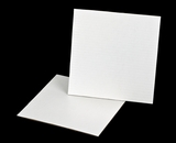 3256 - 10 inch White Cake Square, Coated Corrugated Cake Board