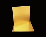 2739 - 10 Inch Cake Board, Gold Foil Single Wall Corrugated with Razor Cut Edges