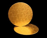 212 - 12 inch Cake Round, Gold Foil Single Wall Corrugated. C06
