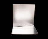 2744 - 12 Inch Cake Board, Silver Foil Single Wall Corrugated with Feather Cut Edges. C07