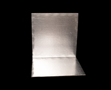 2748 - 14 Inch Cake Board, Silver Foil Single Wall Corrugated with Razor Cut Edges. H10