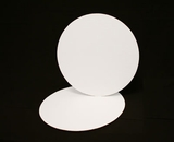 236 - 16 inch White Cake Round, Coated Corrugated Single Cake Board